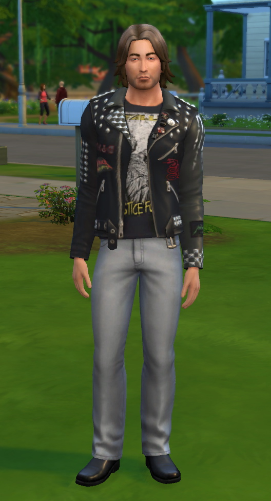 Sims 4 Metallica Leather Jacket by DocStone at Mod The Sims