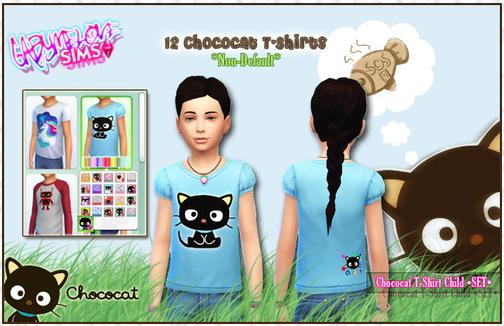 Chococat child T Shirts at Gabymelove Sims image 3514 Sims 4 Updates