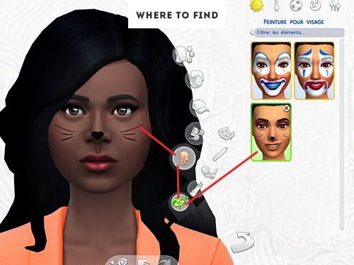 Cat Facepaint At Elrsims 187 Sims 4 Updates