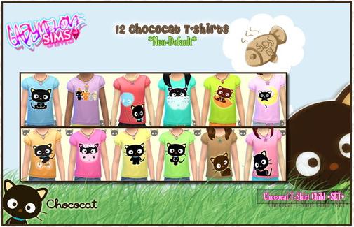 Chococat child T Shirts at Gabymelove Sims image 3614 Sims 4 Updates