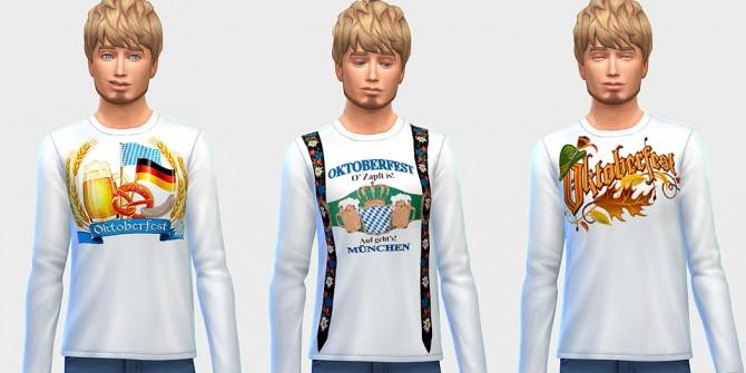 Sims 4 Oktoberfest shirts at Ecoast