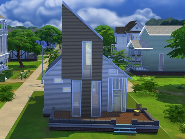 Modern Starter House By Alexandra Sine At The Sims
