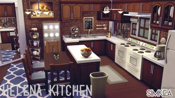 Sims 4 Helena Kitchen by AlwayOlive at Simkea