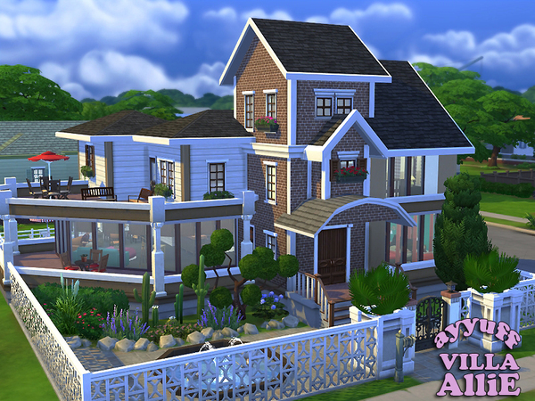Villa allie furnished by ayyuff at the sims resource for Big modern house the sims 4
