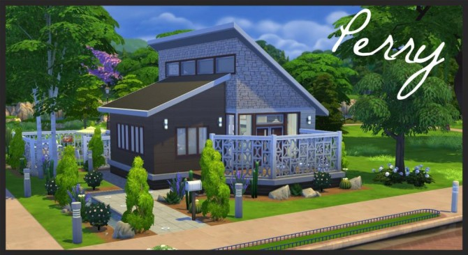 best of sims 4 house building small modernity perry small modern home by baronesstrash at mod the sims 356