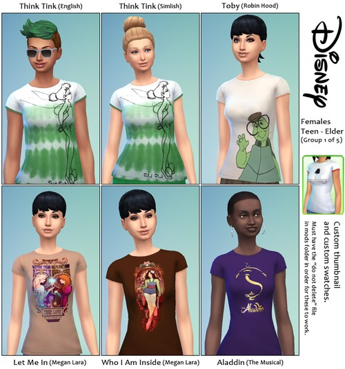 30 Disney themed t shirts at SimFeetUnder image 3834 Sims 4 Updates