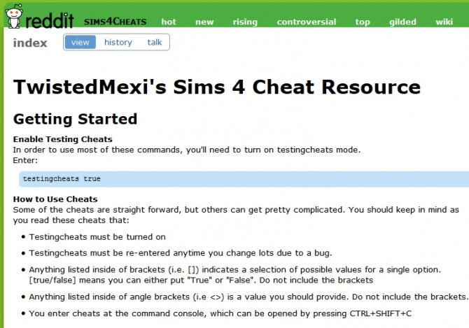 Sims 4 Extended Cheats by TwistedMexi at Sims 4 Cheats