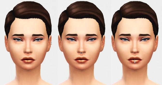 Sims 4 6 Hoop Piercings at Puresims