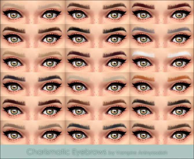 Charismatic Eyebrows by Vampire aninyosaloh at The Sims Resource image 3918 Sims 4 Updates