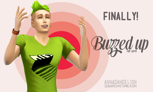 Buzzed Op! 120 hair colours for males at SqquareSims image 3921 Sims 4 Updates
