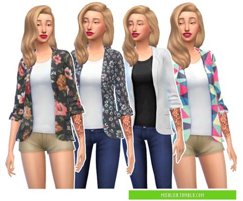 Sims 4 RETEXTURED BLAZERS V1 at MISHLISH