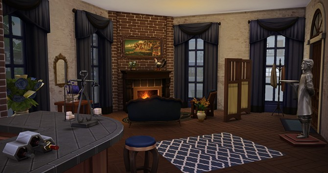 Sims 4 Le Chant des Sirènes small bar at Simsontherope