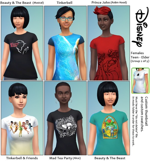 30 Disney themed t shirts at SimFeetUnder image 3932 Sims 4 Updates