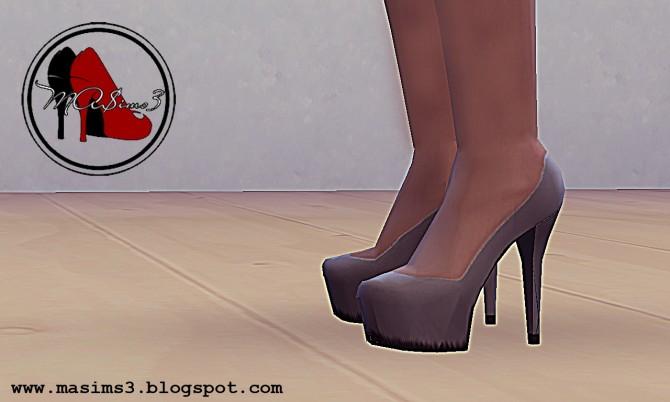 Sims 4 High Heel Platform Pumps at MA$ims3