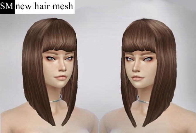 Sims 4 Short Bob Mesh Edit at Simaniacos