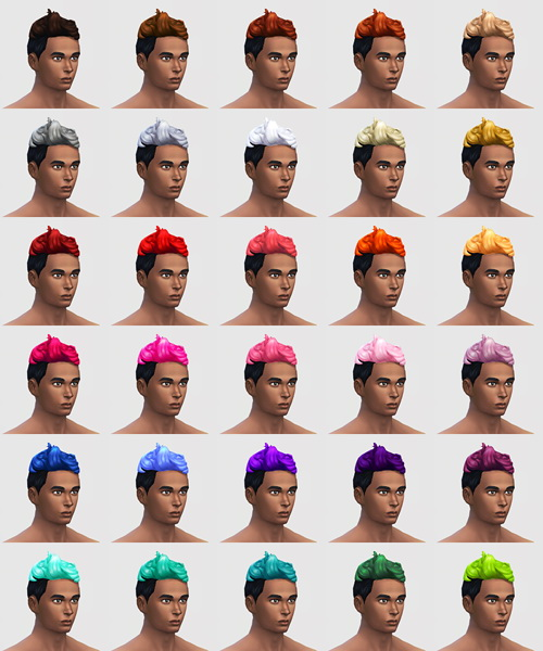 Buzzed Op! 120 hair colours for males at SqquareSims image 4019 Sims 4 Updates