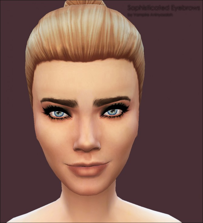 Sims 4 Sophisticated Eyebrows by Vampire aninyosaloh at Mod The Sims