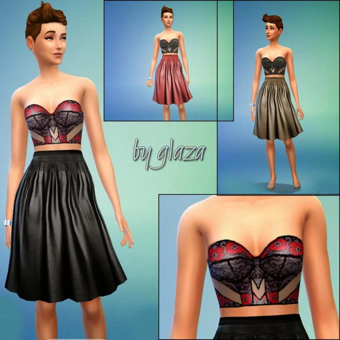 Skirt and top at All by Glaza image 4109 Sims 4 Updates