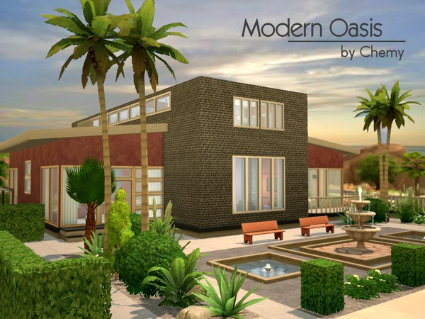 Modern Oasis Residential Lot By Chemy At The Sims Resource