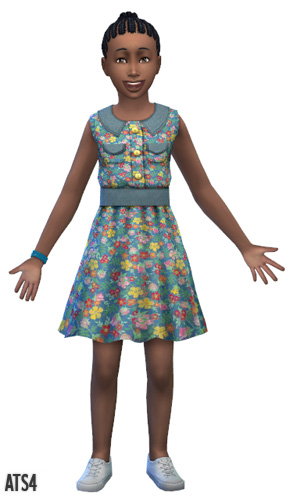 Sims 4 Dresses for girls by Sandy at Around the sims 4