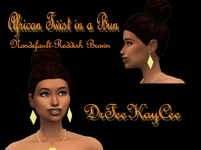 Sims 4 2 ethnic hairstyles by DrTeeKayCee at Sim Culture Nation