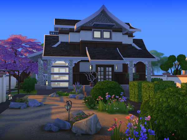 Sims 4 The Fujitsu house by senemm at The Sims Resource