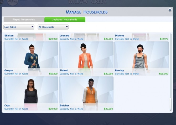 how to add townies in sims 4