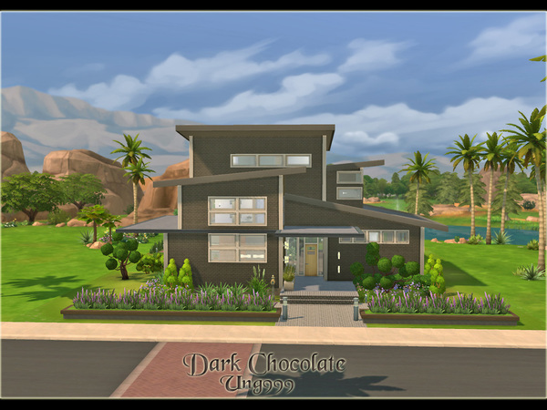 Dark Chocolate house by ung999 at TSR image 4135 Sims 4 Updates