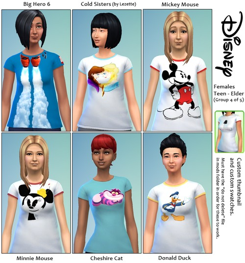 30 Disney themed t shirts at SimFeetUnder image 4144 Sims 4 Updates