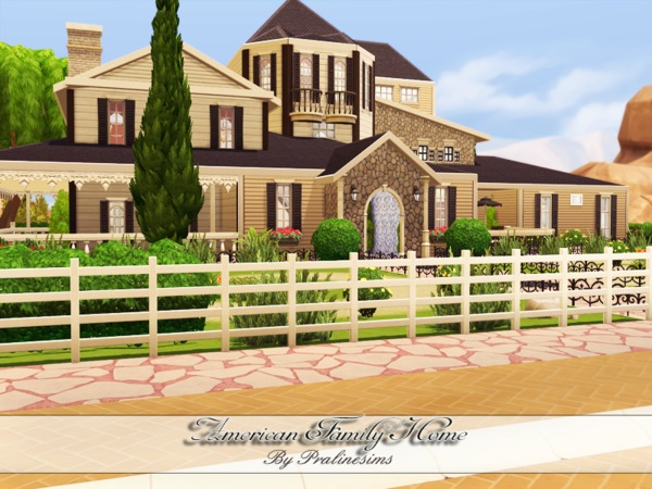 American family home by pralinesims at tsr sims 4 updates for American family homes