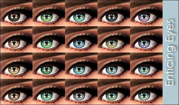 Enticing Eyes 20 colors by Vampire aninyosaloh at Mod The Sims image 4154 Sims 4 Updates