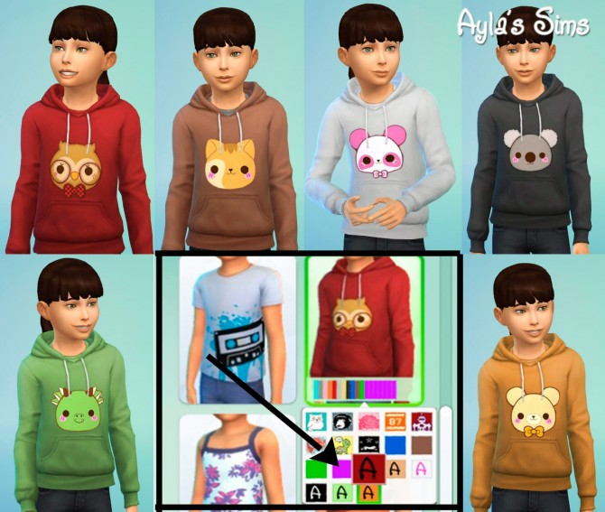 Sims 4 Sweatshirts for kids at Ayla's Sims