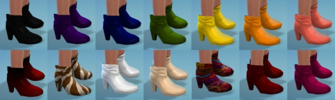 Sims 4 14 Cuffed Ankle Boot Recolors at The Simsperience