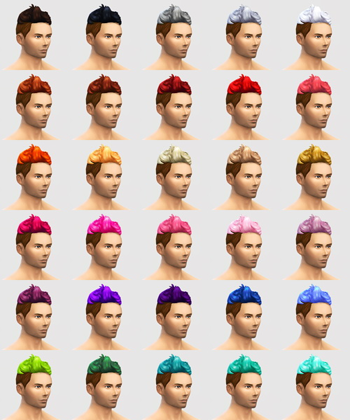 Buzzed Op! 120 hair colours for males at SqquareSims image 4220 Sims 4 Updates