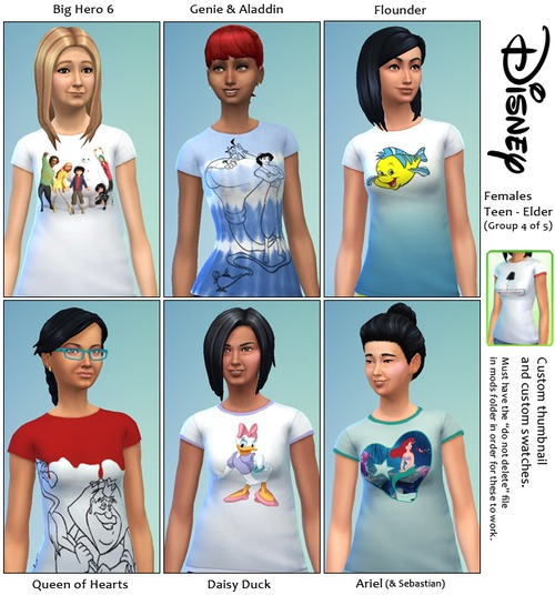 30 Disney themed t shirts at SimFeetUnder image 4231 Sims 4 Updates