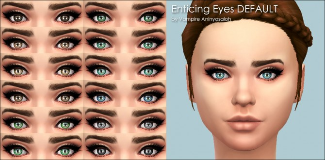 Enticing Eyes 20 colors by Vampire aninyosaloh at Mod The Sims image 4237 Sims 4 Updates