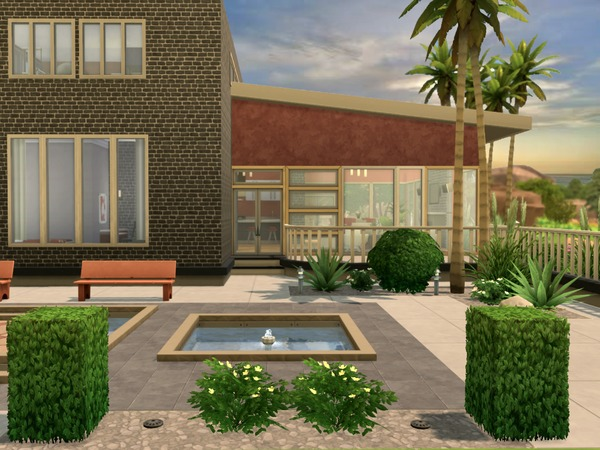 Modern Oasis residential lot by Chemy at The Sims Resource image 426 Sims 4 Updates