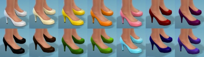 Sims 4 14 High Heel Recolors at The Simsperience