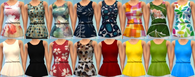 Sims 4 16 Peplum Blouse Recolors at The Simsperience