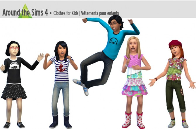 Sims 4 Clothes for kids by Sandy at Around the Sims 4