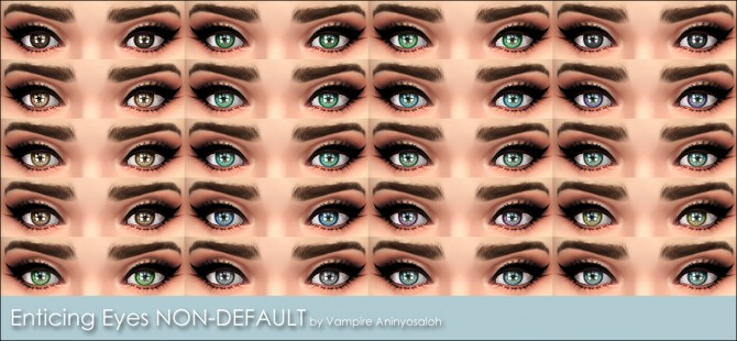 Enticing Eyes 20 colors by Vampire aninyosaloh at Mod The Sims image 4337 Sims 4 Updates