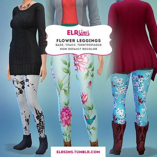 FLOWER LEGGINGS at ELRsims image 4410 Sims 4 Updates