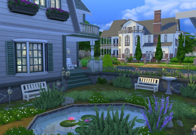 Sims 4 Landyshevy house at Architectural tricks from Dalila