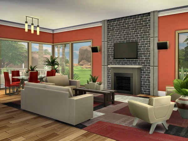 Modern Oasis residential lot by Chemy at The Sims Resource image 446 Sims 4 Updates