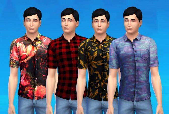 Sims 4 Printed shirts for males at Matt In Simblrland