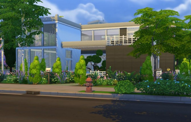 Sims 4 Amity House modern home by BaronessTrash at Mod The Sims