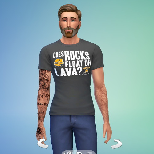 Does Rocks Float On Lava Shirt for males at RTS4CC image 4517 Sims 4 Updates