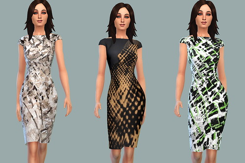 Sims 4 Dresses with prints and patterns at Ecoast
