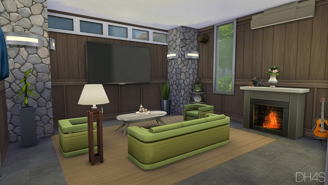 Modern classic livingroom by samuel at dh4s sims 4 updates for Modern living room sims 4
