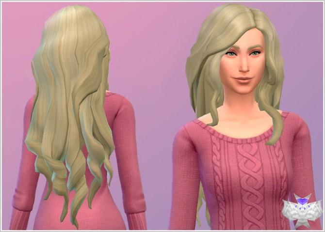 Long Wavy Hair Modified at David Sims image 4625 Sims 4 Updates